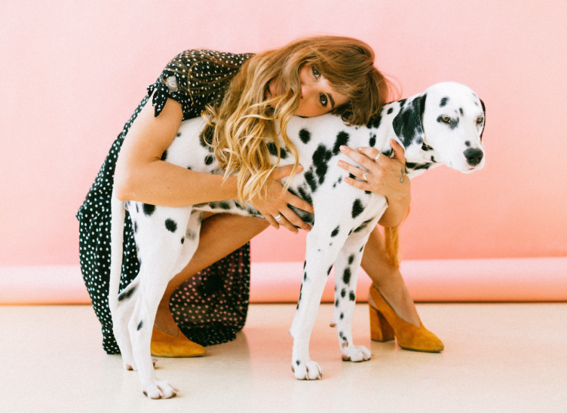 woman-hugging-dalmation